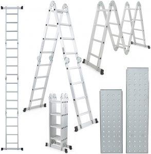ARKSEN 15.5FT Platform Multi-Purpose Folding with 2-Free Plate